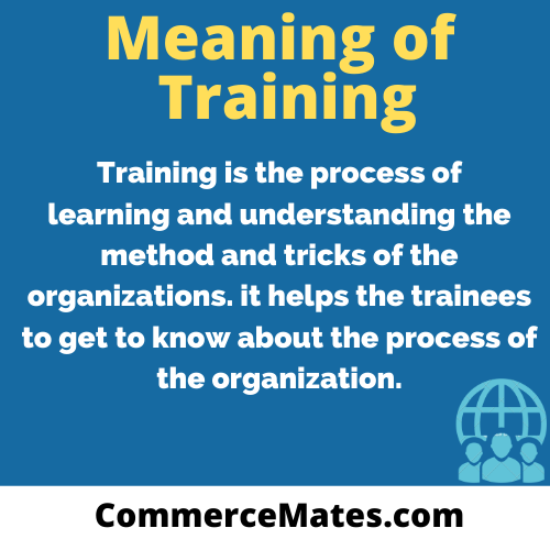 Meaning of Training