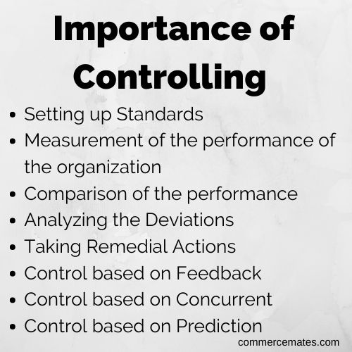 Importance of Controlling in Management