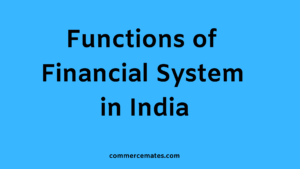 Functions of Financial System in India