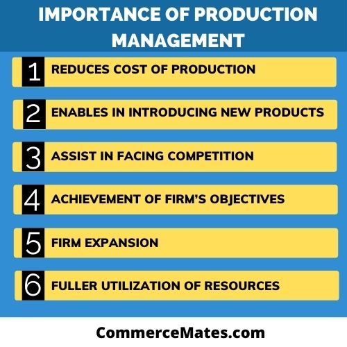 Importance of Production Management