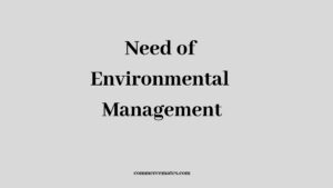 Importance of Environmental Management