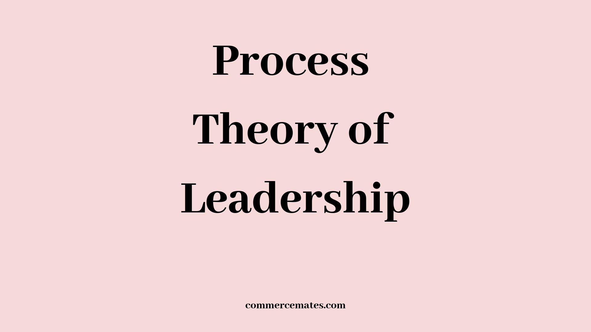 Process Theory of Leadership - Commerce Mates