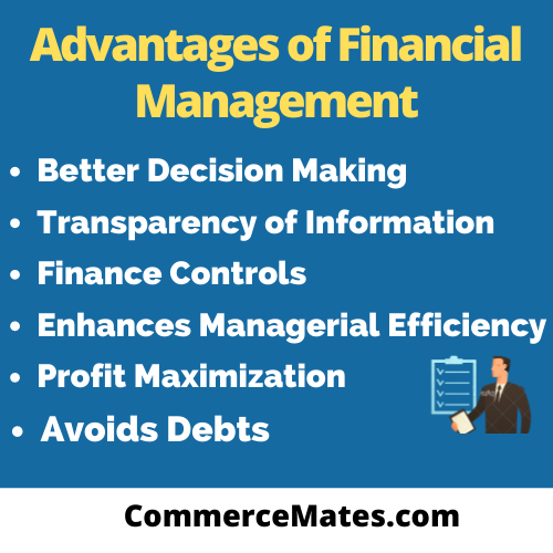 Advantages of Financial Management