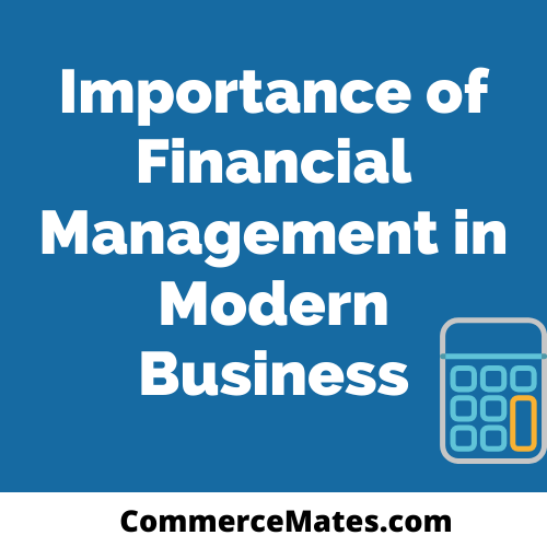Role And Importance Of Financial Management