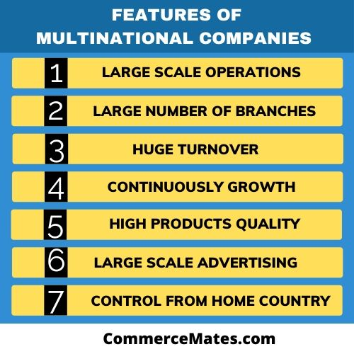 Features of Multinational companies