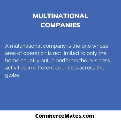 What is Multinational Companies?
