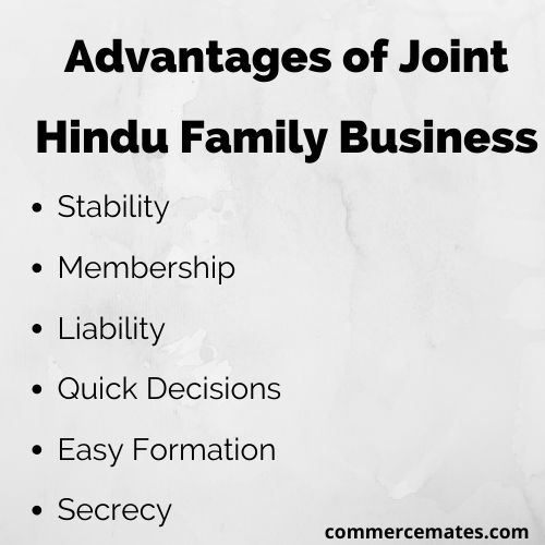 Advantages of Joint Hindu Family Business