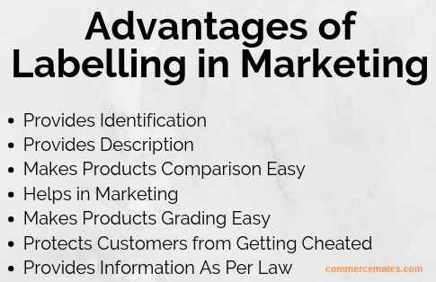 Advantages Of Labelling In Marketing