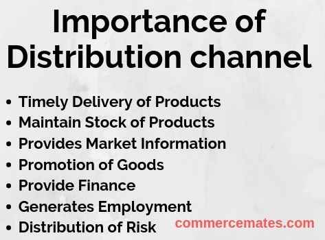 Importance of Distribution channel