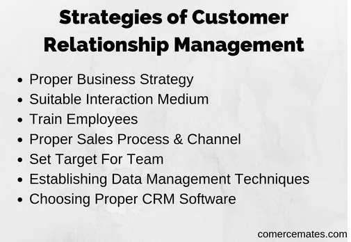 Strategies of Customer Relationship Management