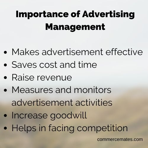 Importance of Advertising Management