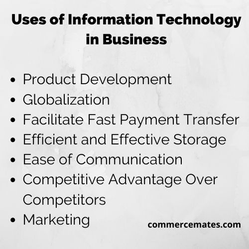 Uses of Information Technology in Business