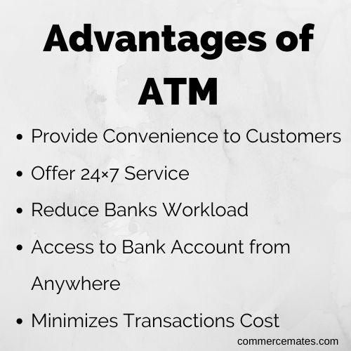 Advantages of ATM