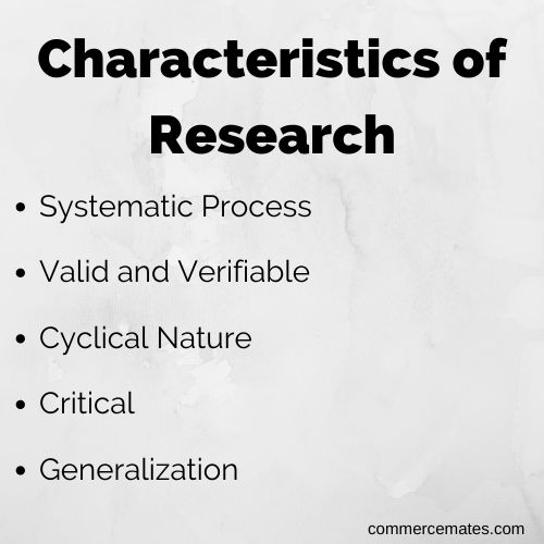 Characteristics of Research methodology