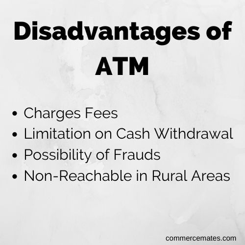 Disadvantages of ATM