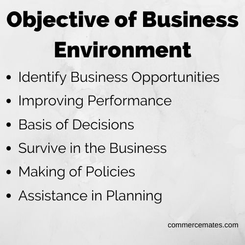 Objective of Business Environment