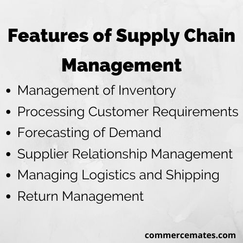 Features of Supply Chain Management