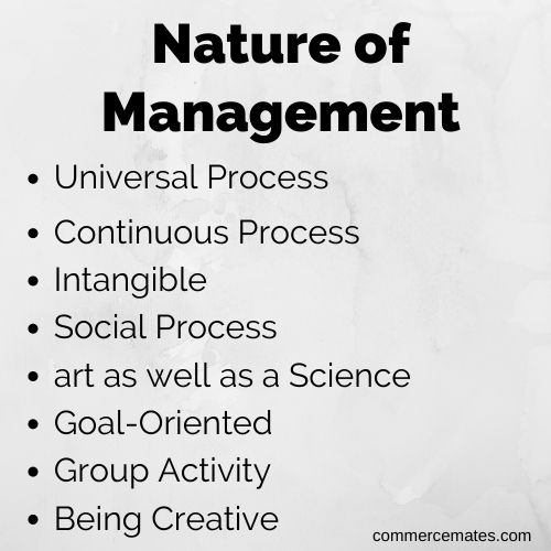 Nature of Management