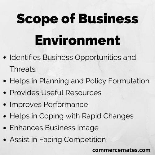 Scope of Business Environment