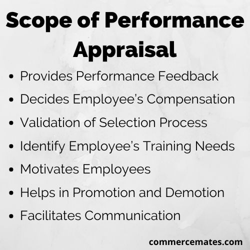 Scope of Performance Appraisal