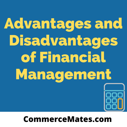Advantages and Disadvantages of Financial Management