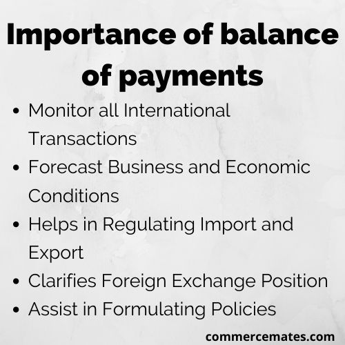 Importance of balance of payments