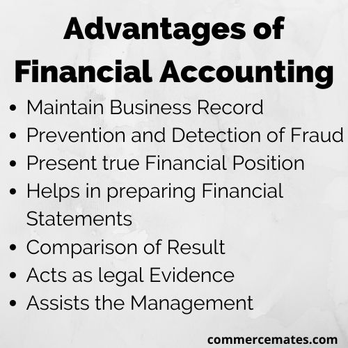 advantages of Financial Accounting
