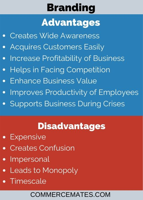 Advantages and Disadvantages of Branding in Marketing Management