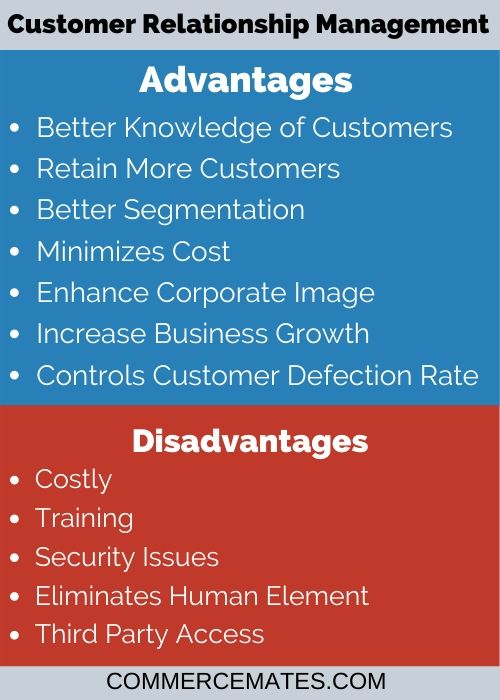 Advantages and Disadvantages of Customer Relationship Management