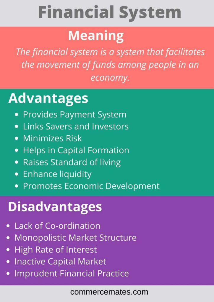 Advantages and Disadvantages of Financial System