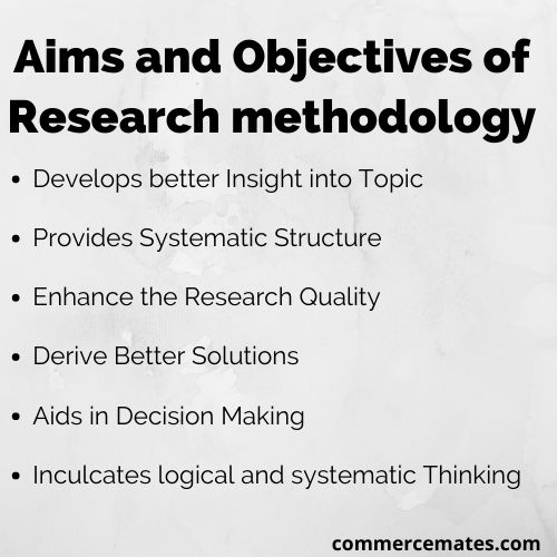 Aims and Objectives of Research Methodology
