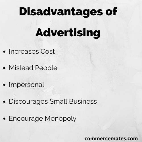 Disadvantages of Advertising