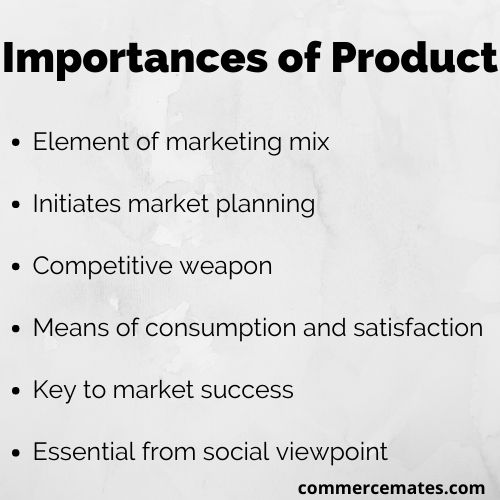 Importances of Product
