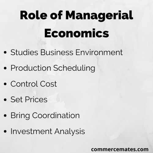 Role of Managerial Economics