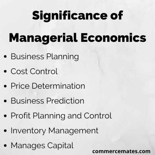Significance of Managerial Economics
