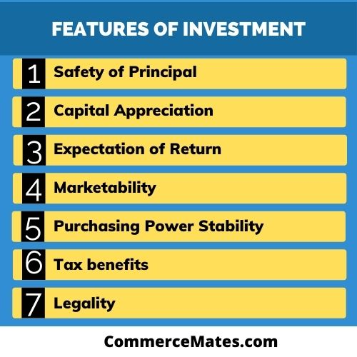 Features of Investment