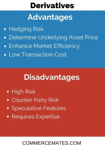 Advantages and Disadvantages of Derivatives