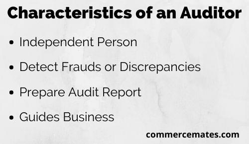 Characteristics of an Auditor