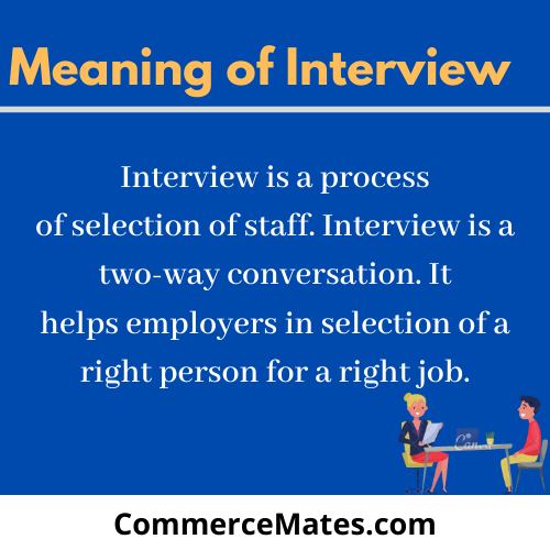 Meaning of Interview