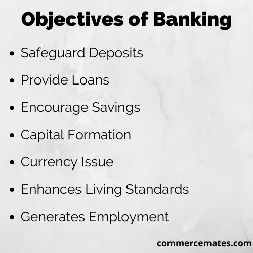 Objectives of Banking