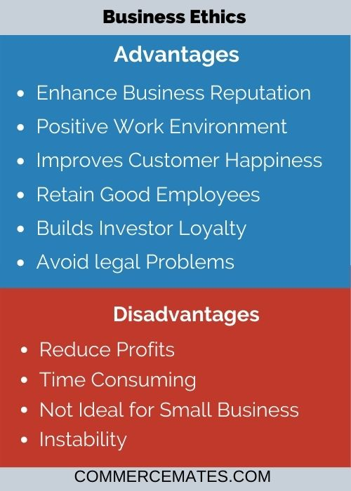 Advantages and Disadvantages of Business Ethics