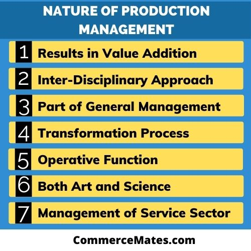 Nature of Production Management