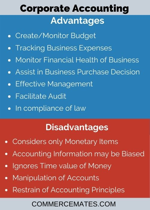 Advantages and Disadvantages of Corporate Accounting